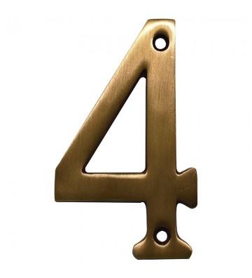 """NUMERO """"4"""" DE LATON DEXTER 4"""" LA No. 4087"""