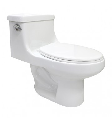 SANITARIO AVA COLOR BLANCO CON ASIENTO ONE-PIECE