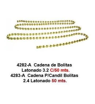 CADENA BOLA LATÓN 3.2 MM 50M