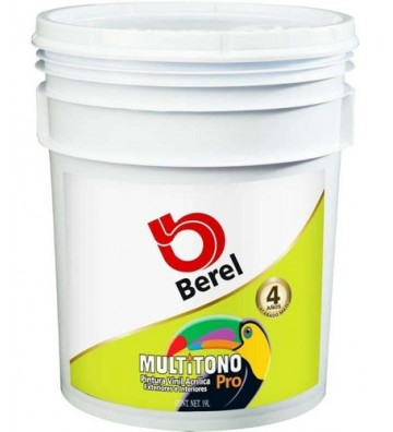 PINTURA BEREL MULTITONO PRO BASE VINIL TINT 19L No. 4702