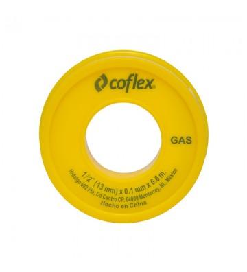 """CINTA TEFLON PARA GAS AMARILLA 1/2""""X260"""" No. WTG12-60"""