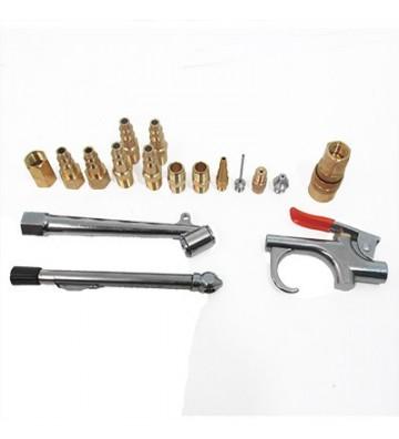 Pistola fabricada en zamac con gatillo cubierto de vinil Diseño con gancho para colgar. Para limpiar, inflar y calibrar