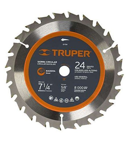 """DISCO P/MADERA 7-1/4"""" 24DPP TRUPER No. 18300"""