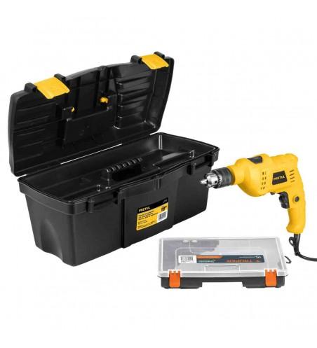 Combo rotomartillo 1/2 y caja de herramientas pretul 20588