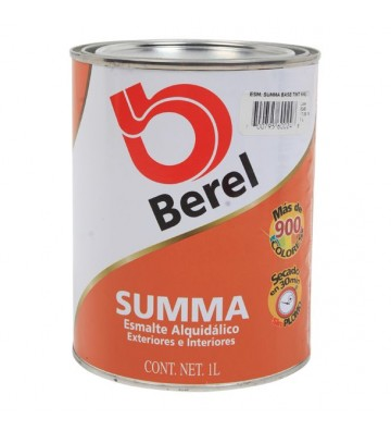 PINTURA BEREL SUMMA ESMALTE COLOR CHOCOLATE MATE 1L No. 672