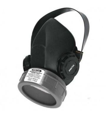 Fabricado en hule Válvula de exhalación Banda elástica ajustable Cartucho intercambiable Reutilizable Respirador de media c