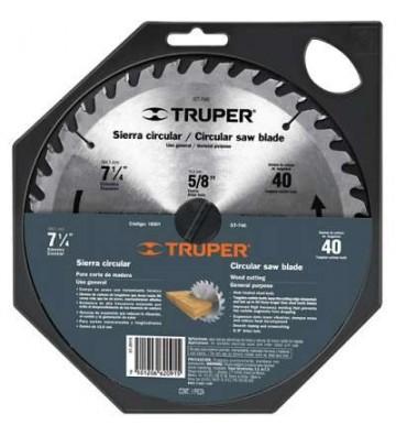 """DISCO P/MADERA 7-1/4"""" 30DPP TRUPER No. 18318"""