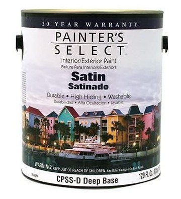 PINTURA PAINTERS SELECT BASE VINIL DEEP SATINADO 4L No. CPSSD-GL