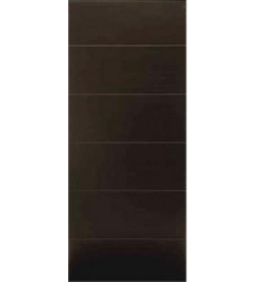 """PUERTA TAMBOR CHOCOLATE RALLADA 32"""" X 80"""""""