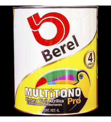 PINTURA VINILICA BLANCA MULTITONO PRO BEREL 4L