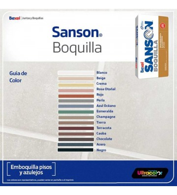 BOQUILLA GRIS ACERO 10KG SANSON