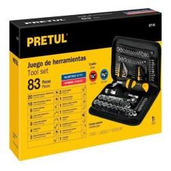 HERRAMIENTAS MECANICAS JUEGO 83P No. 22984 PRETUL