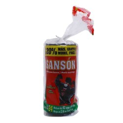 BOLSA PARA BASURA SANSON 60X80 24 PIEZAS
