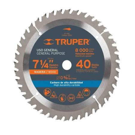 Disco para madera 7-1/4 40 dientes truper 18301