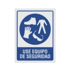 """SE?ALAMIENTO """"USE EQUIPO DE SEGURIDAD"""" ROPA 18X24"""
