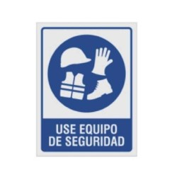 """SE?ALAMIENTO """"USE EQUIPO DE SEGURIDAD"""" CASCO 18X24"""
