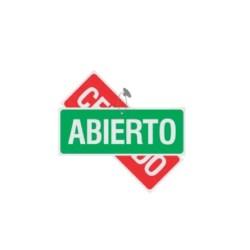 """SE?ALAMIENTO DOBLE VISTA """"ABIERTO-CERRADO"""" 27X10"""