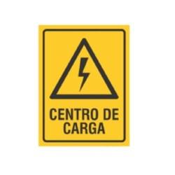 """SE?ALAMIENTO """"CENTRO DE CARGA"""" 18X24"""