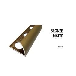 Perfil aluminio bronce mate 10 milimetros 2.44 metros greda