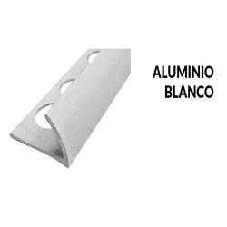 Perfil aluminio blanco brillo 10 milimetros 2.44 metros greda