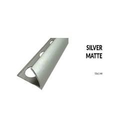 Perfil aluminio plata mate 10 milimetros 2.44 metros greda