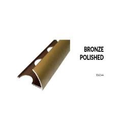 Perfil aluminio bronze mate 10 milimetros 2.44 metros greda