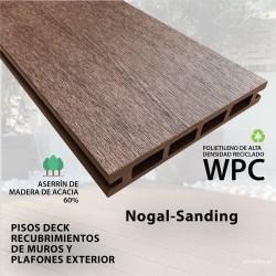 PISO DECK NOGAL 14.6 X 210X2.2 CM  SANDING
