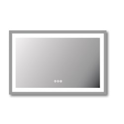 Espejo con luz led y sonido bluetooth 90x70x3 centimetros castel LBS-90