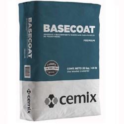 Textura basecoat polvo fino gris 20 kilogramos cemix