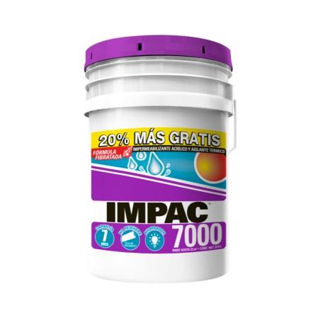 Impermeablilizante 7000 con fibra cubetón 21.6 litros impac