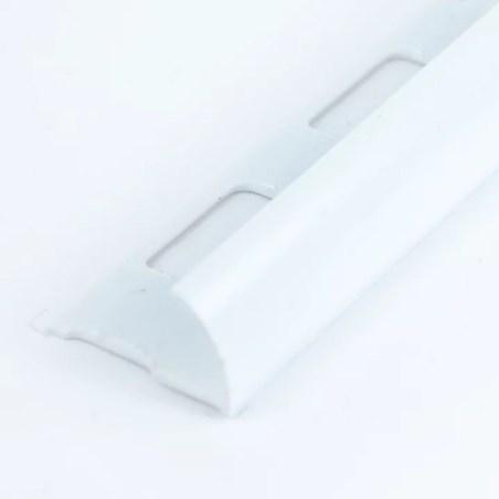 Perfil pvc liso blanco 2.44 metros acento