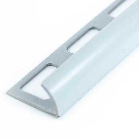 Perfil pvc liso gris 2.44 metros acento
