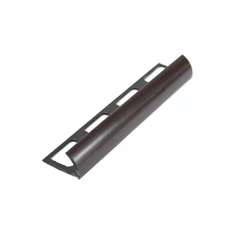 PERFIL PVC LISO CHOCOLATE 2.44 MT