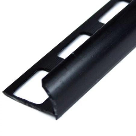 Perfil pvc liso negro 2.44 metros acento