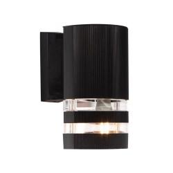 LAMPARA EXTERIOR NEGRA PARA PARED LED No. 22885-2
