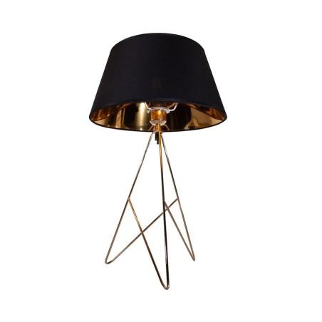Lampara de mesa 1 luz e27 bronce pulido lumimexico 32097-2