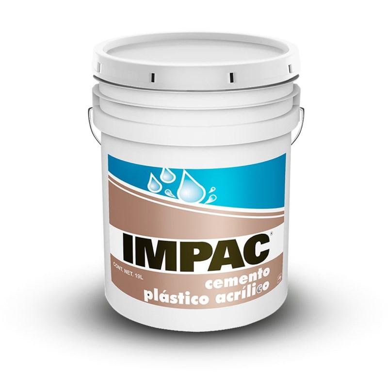 Cemento plastico acrilico 19 litros impac