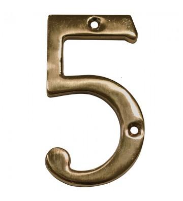 """NUMERO """"5"""" DE LATON DEXTER 4"""" LA No. 4088"""