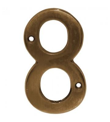 """NUMERO """"8"""" DE LATON DEXTER 4"""" LA No. 4091"""