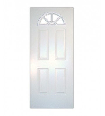 PUERTA LAMINA MEDIA LUNA COLOR BLANCA 90 X 203 CMS.