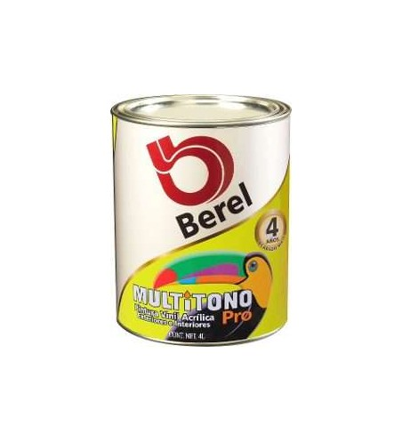 PINTURA VINILICA MULTITONO PRO BEREL COLOR BLANCA 1GAL No.4723