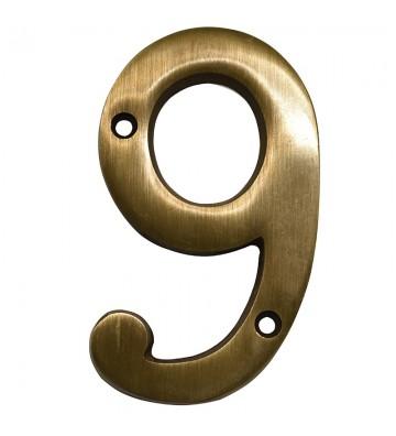 """NUMERO """"9"""" DE LATON DEXTER 4"""" LA No. 4092"""