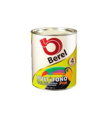 PINTURA BEREL MULTITONO PRO BASE VINÍLICA DEEP 1 GALÓN No. 4703