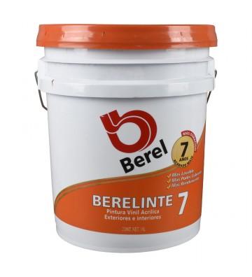 PINTURA VINIL ACRÍLICA BEREL BERELINTE 7 MATE DE 19L