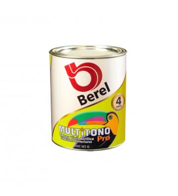 PINTURA BEREL MULTITONO PRO BASE VINIL PASTEL 4L No. 4701