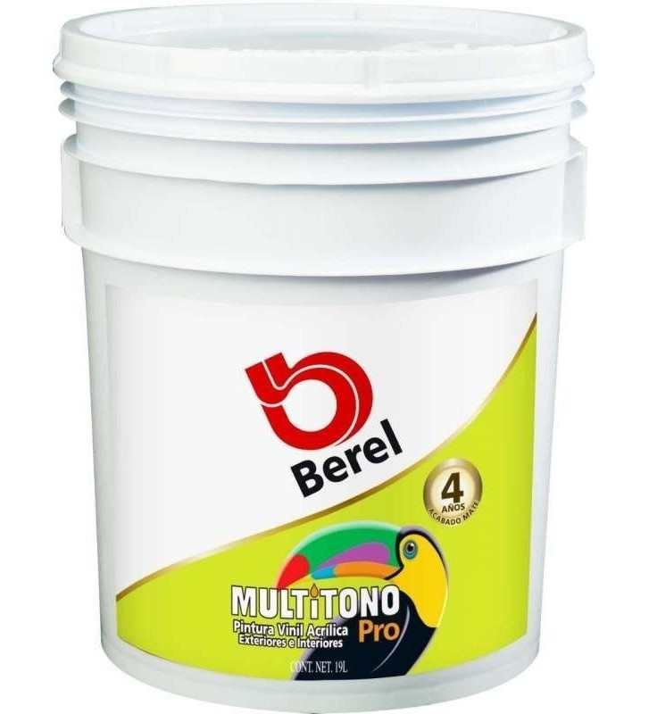 PINTURA BEREL MULTITONO PRO-BASE VINÍLICA DEEP 19L No. 4703
