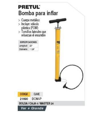 "BOMBA P/INFLAR  20"" No. 21690 PRETUL"